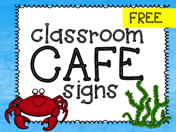 FREE Cafe Signs: Ocean Themed