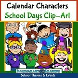 FREE Calendar Characters School Days Clip-Art!