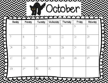 2018-2019 School Year Calendar **FREEBIE**