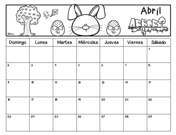 FREE Calendario Marzo - Junio