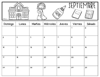 FREE- Calendario de tareas septiembre - EDITABLE