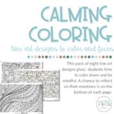 FREE Calming Coloring Sheets