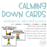 FREE Calming Down Cards