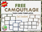 FREE Camouflage Task Card Templates For Commercial and Per