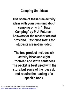 FREE Camping Unit Ideas