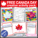 FREE Canada Day 150 Maple Leaf art project and classroom decor pack