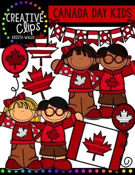FREE Canada Day KIDS {Creative Clips Digital Clipart}