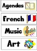 FREE Canadian Classroom Schedule Cards/Agenda Labels