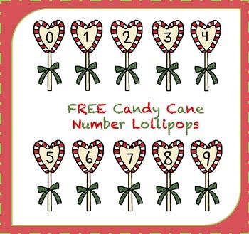 FREE Candy Cane Clipart / Lollipop Clipart {Christmas Clipart}