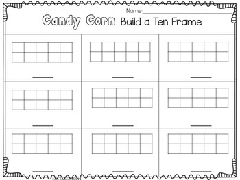 FREE Candy Corn Build a Number Ten Frames