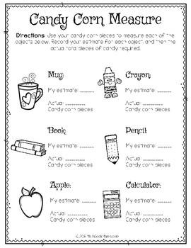 FREE Candy Corn Math for PreK-1st Grade {Hands On}