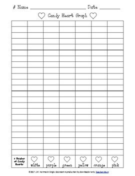 FREE Candy Heart Graph