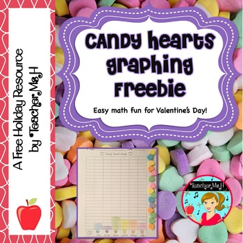 FREE Candy Heart Graphing and Math (Conversation Heart Math FREE)