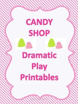 FREE Candy Shop Dramatic Play Prinatbles