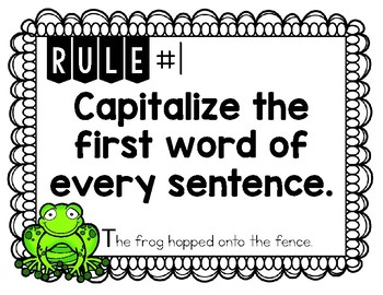 FREE Capitalization Rules Posters