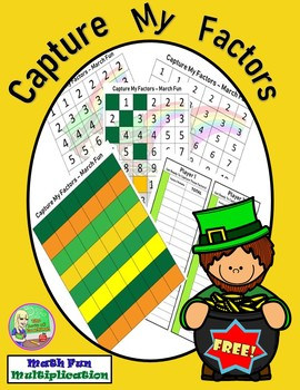 FREE Capture My Factors ♣ St Patrick's Day Math Center