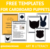 FREE Cardboard Puppet Art with Templates