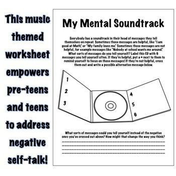 Mental Soundtrack Positive Self Talk Self Esteem Rebt Cbt