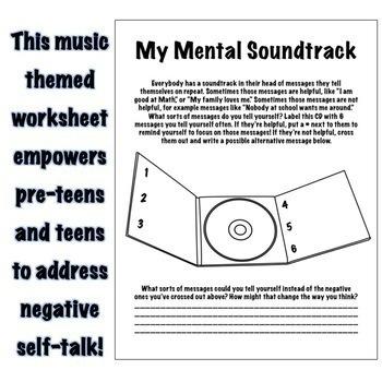 My Mental Soundtrack Positive Self Talk Self Esteem Rebt Cbt