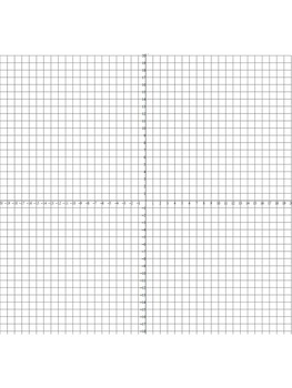 FREE Cartesian Coordinate Plane Graph Paper Templates (Personal Use Only)