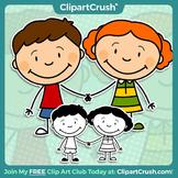 Royalty Free Cartoon Boy & Girl Clipart Characters - Enjoy!