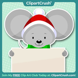 Royalty Free Cartoon Christmas Mouse Clipart - Enjoy!