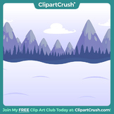 Royalty Free Cartoon Winter Background - Snow Scene Stage Backdrop!
