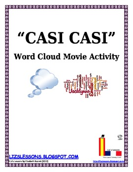 "FREE ""Casi Casi"" Word Cloud Movie Activity"