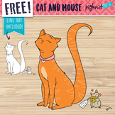 FREE Cat and Mouse Valentines Day Clipart