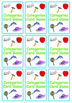 FREE Categories Card Game: Name Things That ...