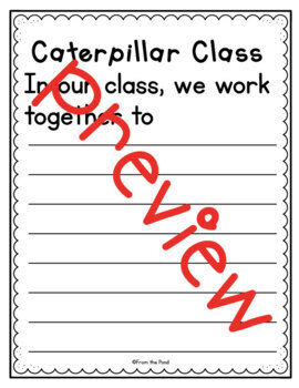 Caterpillar Handprint - Back to School Classroom Cooperation Art Activities