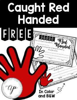 FREE Caught Red Handed Award