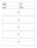 FREE- Cause and Effect Worksheet
