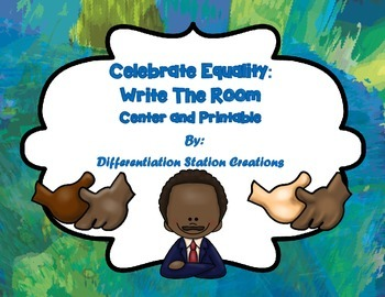 FREE!  Celebrate Equality: Count and Write the Room! Martin Luther King, Jr.