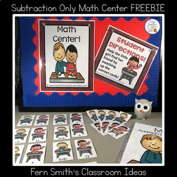 Back to School Mixed Addition and Subtraction Center Game Freebie