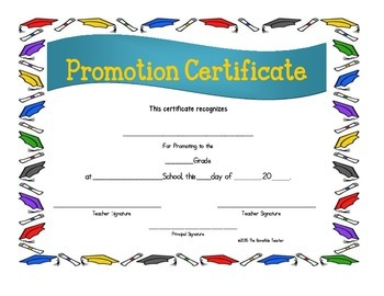FREE Certificates--Kindergarten, Promotion, Parent Volunteers!