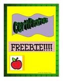 FREE Certificates--Kindergarten, Promotion, Parent Volunteers!