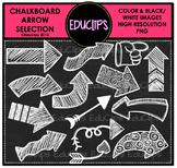 FREE ~ Chalkboard Arrow Clip Art Selection {Educlips Clipart}