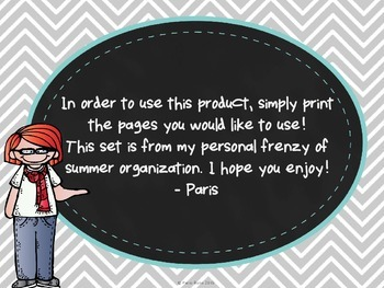 **FREE** Printable Resource Binder Inserts: Chalkboard & Chevron Theme