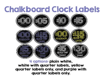 FREE Chalkboard Clock Number Labels
