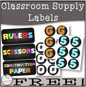 FREE Chalkboard Letters & Supply Labels!