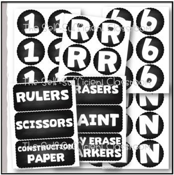 FREE Chalkboard Letters & Supply Labels!