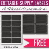 FREE Chalkboard Supply Labels - Chalkboard Themed Classroo