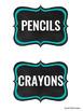 46 Editable Supply Bin Chalkboard Theme Labels
