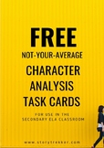 FREE - Character Analysis Task Cards