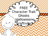 FREE Character Trait Halloween Ghost Craftivity