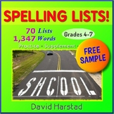 FREE - Character Traits | 4 Spelling Lists (Gr. 3-7)