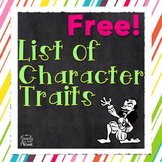 List of Character Traits {FREE}