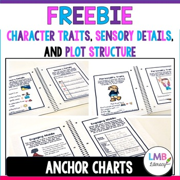FREE Character Traits, Sensory Details, and Plot Structure Anchor Charts