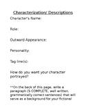 FREE Characterization Worksheet